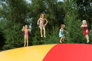 Airtrampoline kindvriendelijke camping Witven