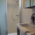 badkamer van een chalet op camping 't Witven te Veldhoven bij Eindhoven in Noord-Brabant